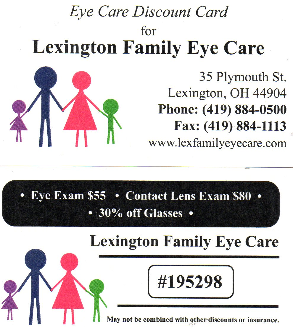 Eye Care and Exam Coupons Lexington, OH